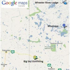 Interactive Google Map - Wheeler River Lodge